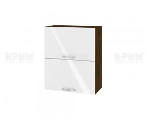 Горен шкаф за кухня Сити ВФ-Бяло гланц-05-11 МДФ - 60 см.