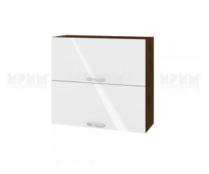 Горен шкаф за кухня Сити ВФ-Бяло гланц-05-12