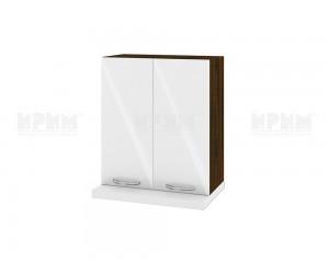 Кухненски горен шкаф за аспиратор Сити ВФ-Бяло гланц-05-13 МДФ - 60 см.