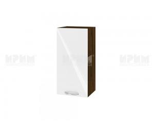 Горен шкаф за кухня Сити ВФ-Бяло гланц-05-16 МДФ - 35 см.