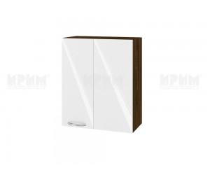 Ъглов горен шкаф за кухня Сити ВФ-Бяло гланц-05-17 МДФ - 60 см.