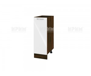 Долен шкаф за кухня Сити ВФ-Бяло гланц-05-20 МДФ - 30 см.