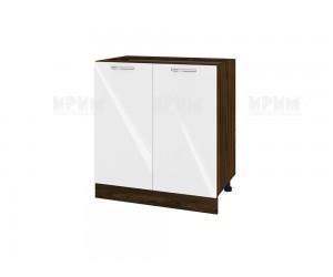Долен шкаф за кухня Сити ВФ-Бяло гланц-05-23 МДФ - 80 см.