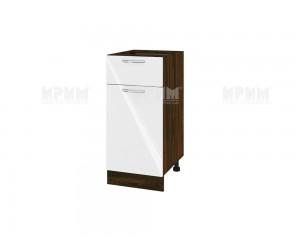 Долен шкаф за кухня Сити ВФ-Бяло гланц-05-24 МДФ - 40 см.