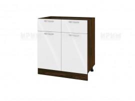Долен шкаф за кухня Сити ВФ-Бяло гланц-05-26 МДФ - 80 см.