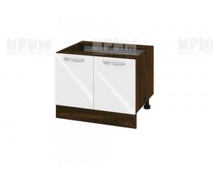 Кухненски долен шкаф за печка тип Раховец Сити ВФ-Бяло гланц-05-32 МДФ - 60 см.