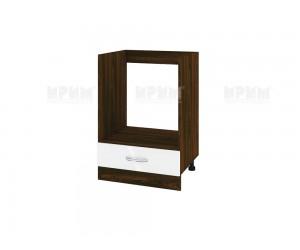 Кухненски долен шкаф за фурна Сити ВФ-Бяло гланц-05-36