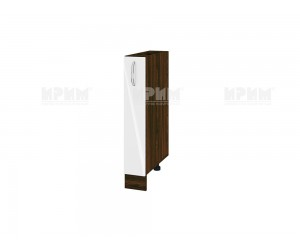 Долен шкаф-бутилиера за кухня Сити ВФ-Бяло гланц-05-41 МДФ - 15 см.