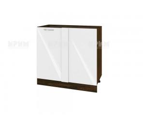 Ъглов долен шкаф за кухня Сити ВФ-Бяло гланц-05-42 МДФ - 90 см.