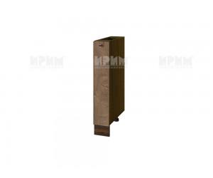 Долен шкаф-бутилиера за кухня Сити ВФ-Дъб натурал-06-41 МДФ - 15 см.