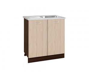 Кухненски шкаф с включена бордова мивка 80/60 см.