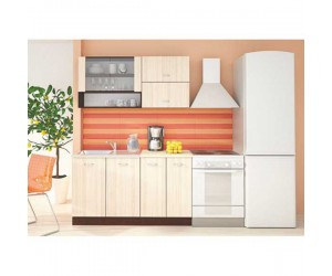 Модулна кухня Ирис 2 - Пясъчен дъб и Венге