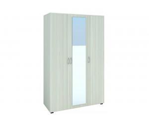 Трикрилен гардероб с огледало №8