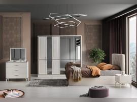 Луксозен спален комплект INCI А 160/200 см. - екрю