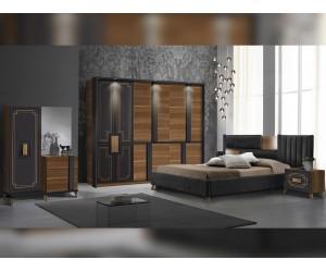Луксозен спален комплект Beata - Noce/Antracite