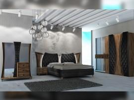 Луксозен спален комплект Delizia - Noce/Nero