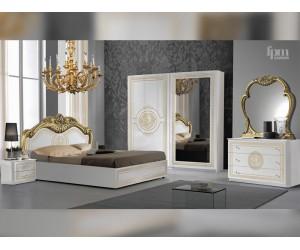 Луксозен спален комплект Dolores Bianco/Gold