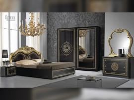 Луксозен спален комплект Dolores Nero/Gold