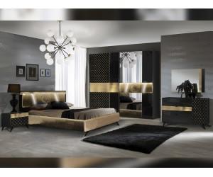 Луксозен спален комплект Glamour - с LED осветление