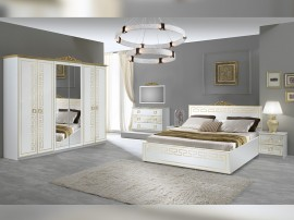 Луксозен спален комплект Olimp - Bianco/Gold
