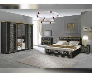 Луксозен спален комплект Olimp - Nero/Gold