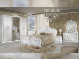 Луксозен спален комплект Vilma Bianco/Silver
