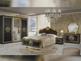 Луксозен спален комплект Vilma Nero/Gold