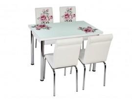 Комплект маса с принт стъкло и 4 бр. столове СВ 011