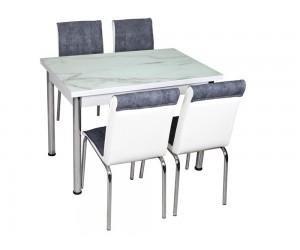 Комплект маса с принт стъкло и 4 бр. столове СВ 051