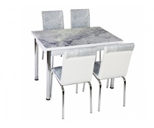 Комплект маса с принт стъкло и 4 бр. столове СВ 052