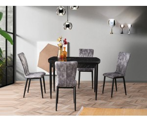 Комплект маса FULYA 1502 и столове DORE 2802