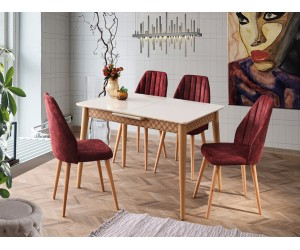 Комплект маса VENUS 1119 и столове DEFNE 2207