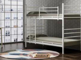 Двуетажно разглобяемо детско легло DAMLA 90/200 см., метал в сиво