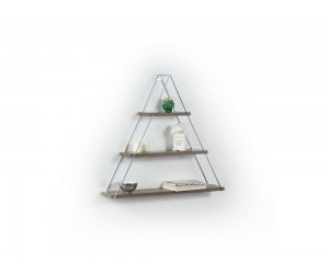 Триъгълна етажерка Omer - MT191001 - Орех / Хром