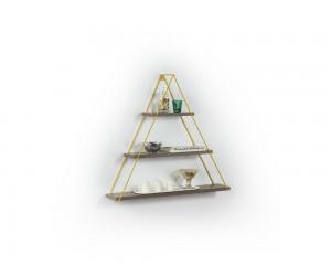 Триъгълна етажерка Omer - MT191002 - Орех / Жълт