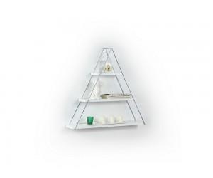 Триъгълна етажерка Omer - MT191003 - Бял / Хром