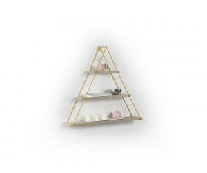 Триъгълна етажерка Omer - MT191004 - Дъб / Жълт