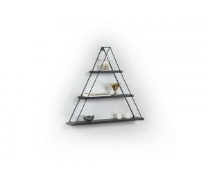 Триъгълна етажерка Omer - MT191005 - Черен