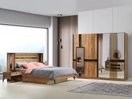 Луксозен спален комплект DOGA 160/200 см. - урарту/черно