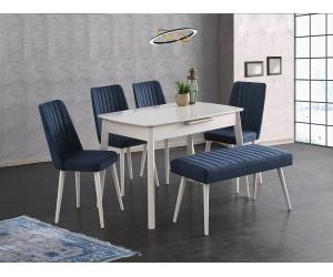 Комплект маса Ece 552 със столове Milano 155 и Пейка 182