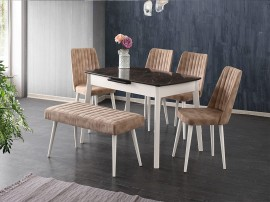 Комплект маса Ece 551 със столове Milano 154 и Пейка 180