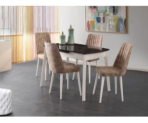 Комплект маса Ece 551 със столове Milano 154