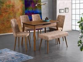 Комплект маса Ece 554 със столове Milano 144 и Пейка 183