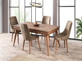 Комплект маса Ela 564 със столове Sahra 081