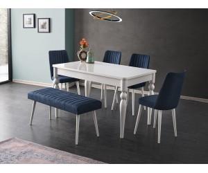 Комплект маса Marino 510 със столове Milano 115 и пейка 195