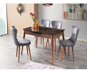 Комплект маса Mine 538 със столове Ela 368