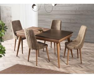 Комплект маса Safir 561 със столове Sahra 081