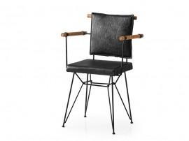 Трапезен стол Penyez 372 - Черен