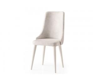 Трапезен стол Sahra 069 - Бял