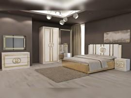 Луксозен спален комплект Double G - Бяло/Златно